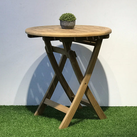 teak folding table 70cm