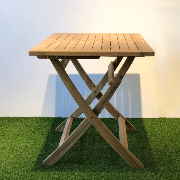 square teak outdoor table