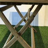 Java outdoor folding teak table , square 70x70cm