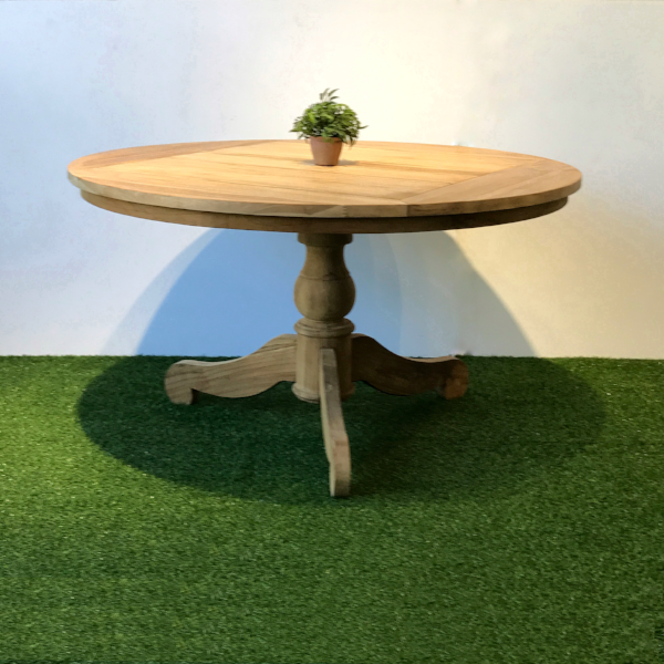 Rustique Round Teak table 160cm