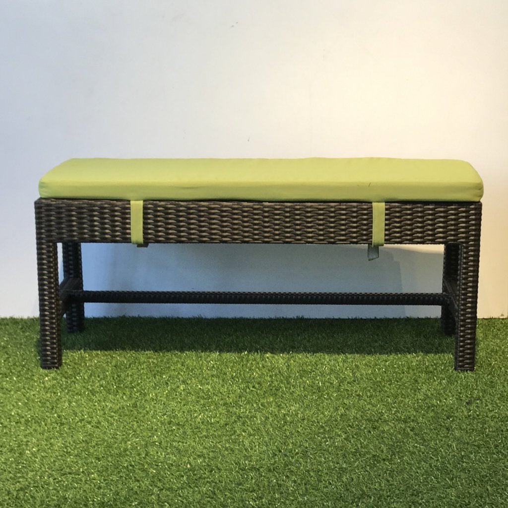 wicker bench brown outdoor singapore