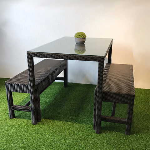 Compact Outdoor Dining Set Wicker