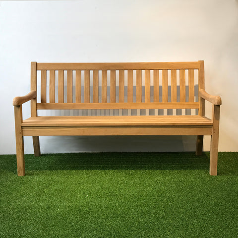 Outdoor solid teak 3 seater bench , natural color