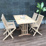 Mini Landsort extendable 110/150x80cm table set with 4 folding chair