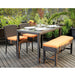 outdoor dining wicker set