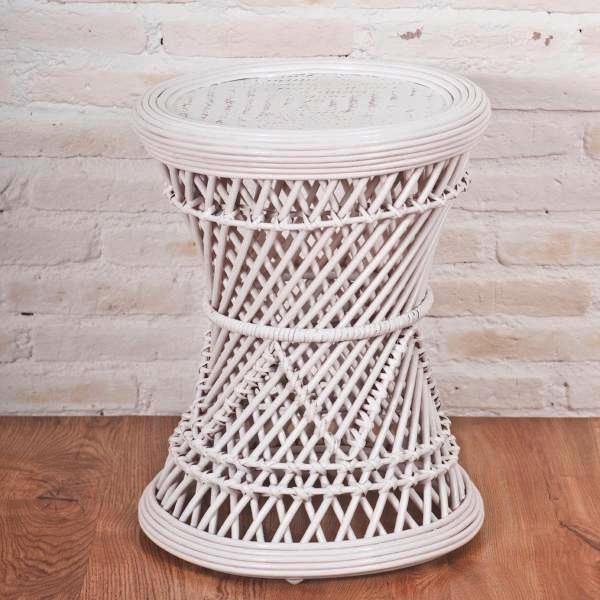 Tahiti stool/small table, white