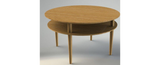 King cross solid oak coffee table, round