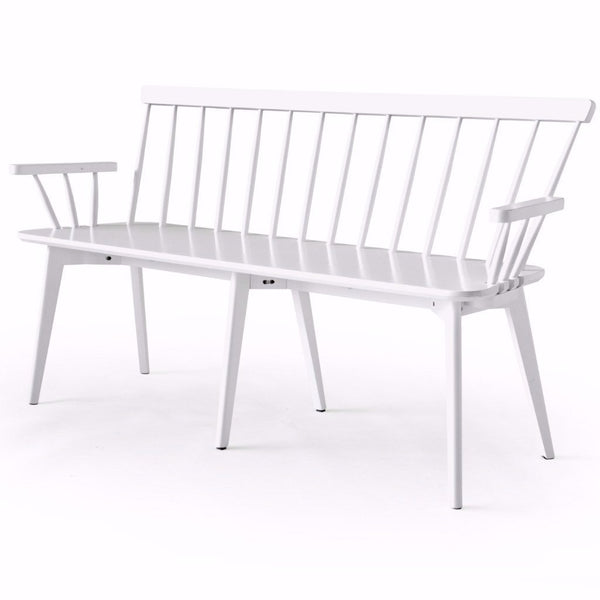 white wooden modern bench