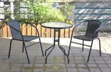 PISA cafe balcony set with 2 chairs