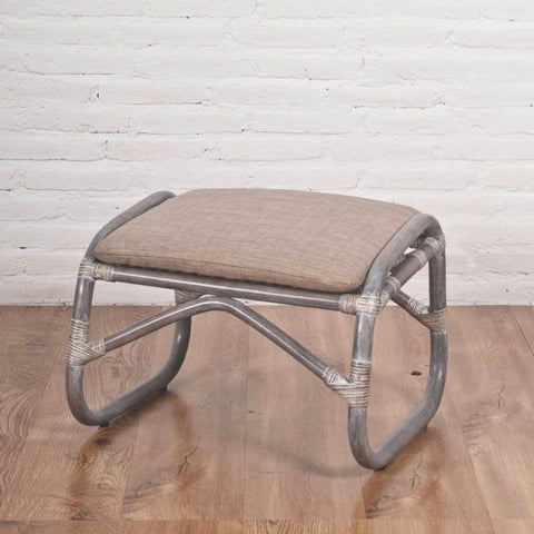 Serena Foot Stool , grey wash