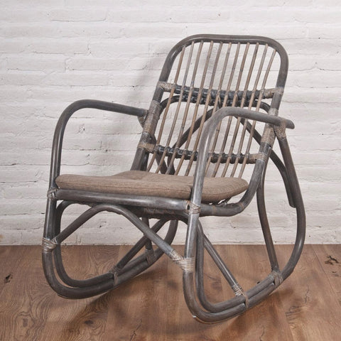 Etonnant Greywash Rattan Rocking Chair Singapore