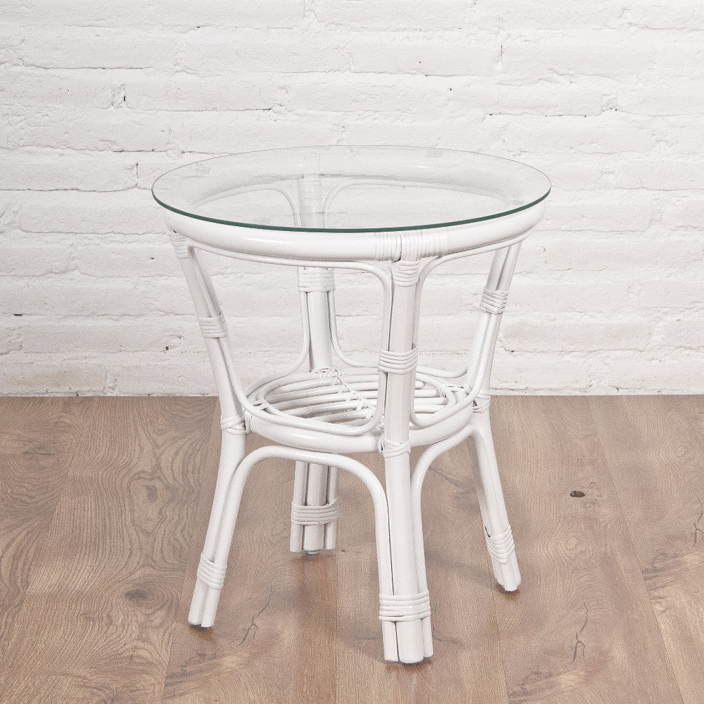 Somerset side table, white