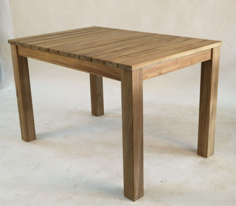 teak outdoor table 120cm
