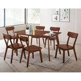 Zoey 1+6 Dining Set, Walnut