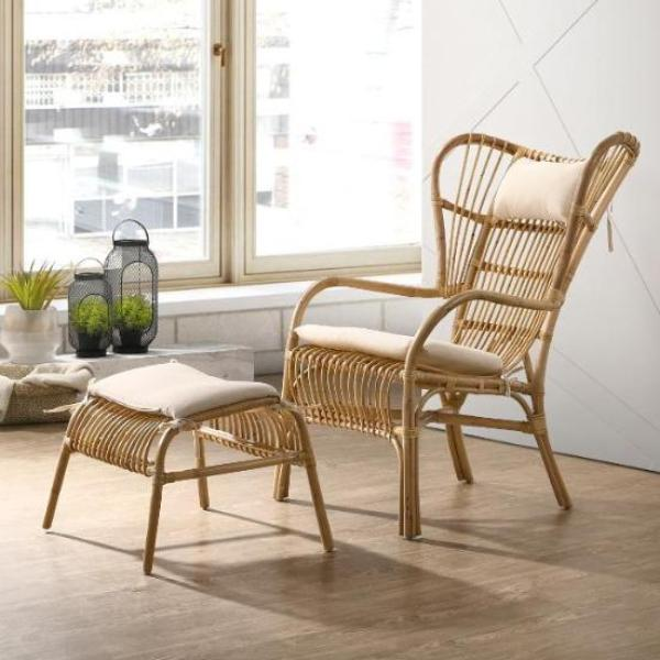 Naturall cane armchair singapore rattan furniture