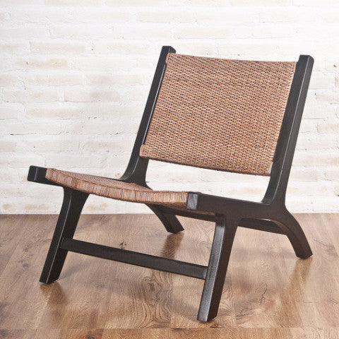 teak rattan living room chair