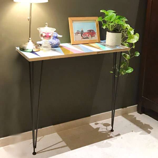 small modern boho counter table