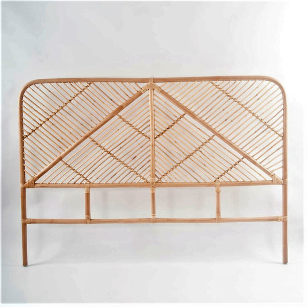 simple rattan bed head