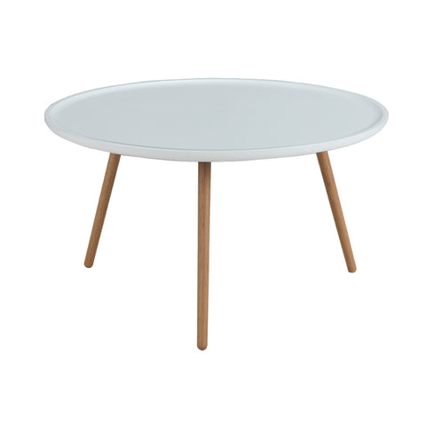 Daisy Round Coffee Table, White