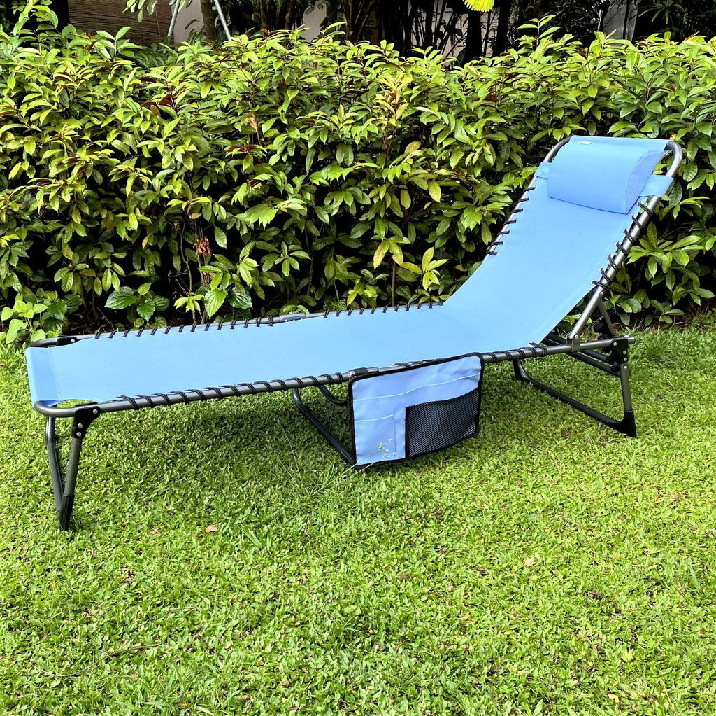 Foldable sun bed lounger