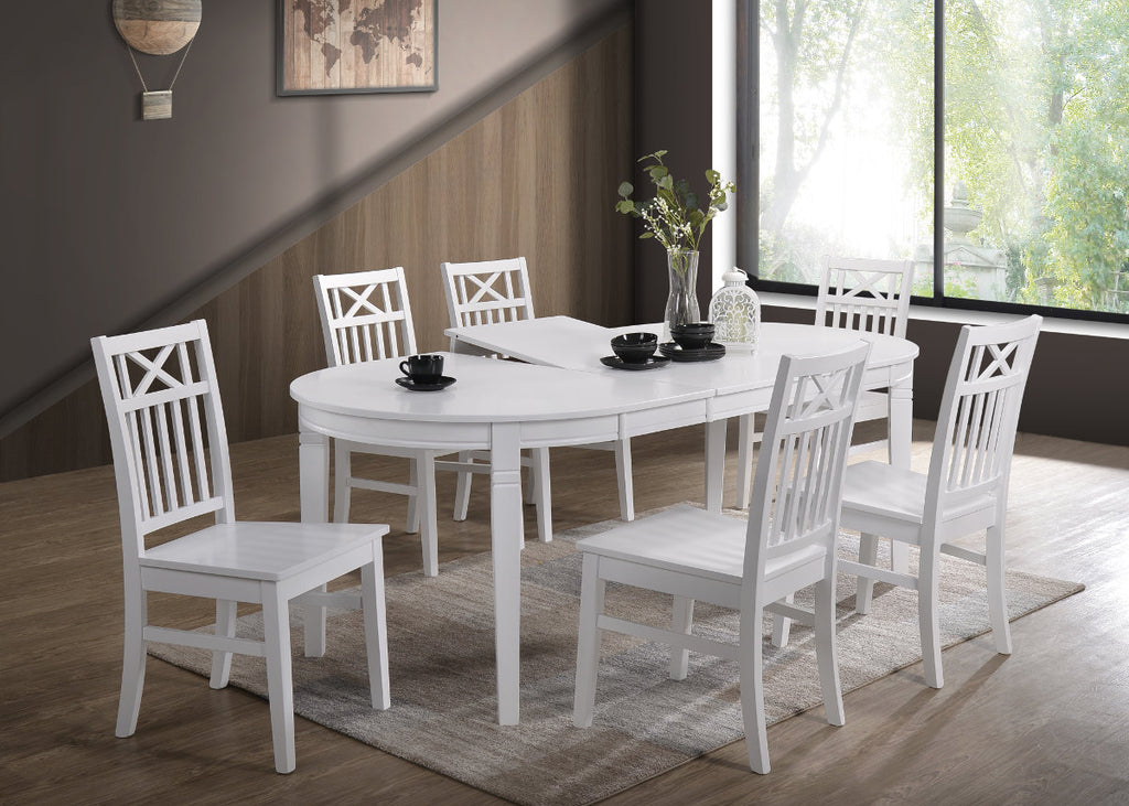 Gothenburg Oval table + 6 Orust chairs