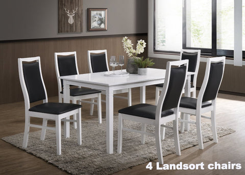 Gothenburg table 140x90 + 4 Landsort chairs
