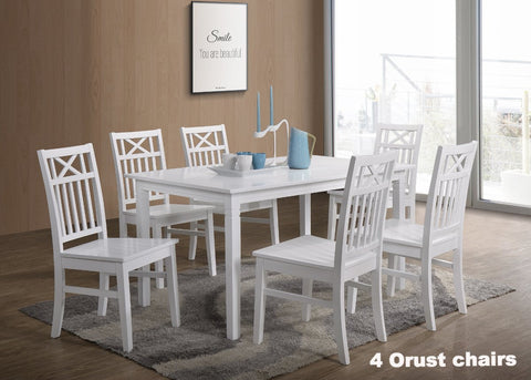 Gothenburg table 140x90 + 4 Orust chairs