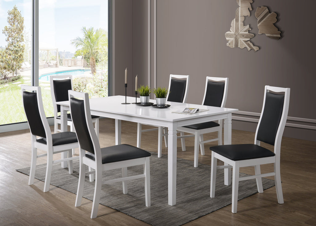 Gothenburg table 180x90 + 6 Landsort chairs