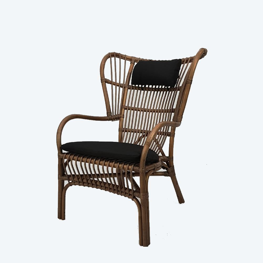 Honolulu Rattan Armchair Walnut Hemma Online Furniture Store
