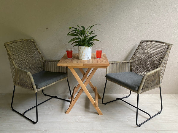 Denpasar Wicker Chairs With Teak Table