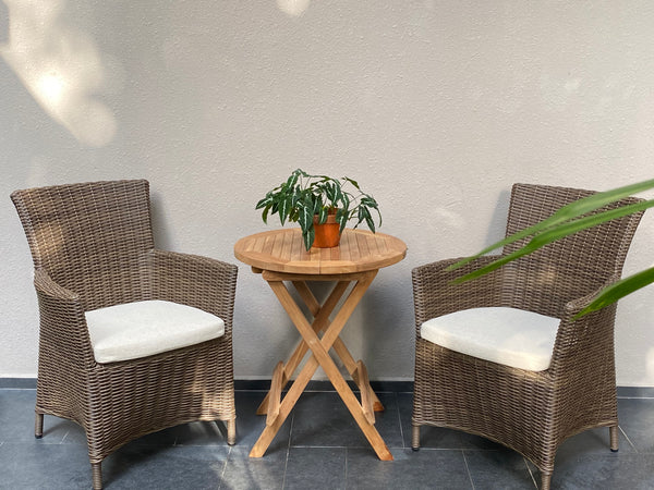 Ottawa Wicker Chairs With Teak Table