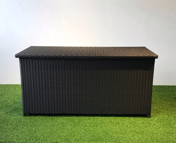 Outdoor storage box dark brown