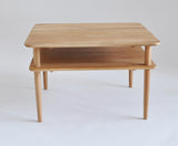 King cross solid oak square coffee table