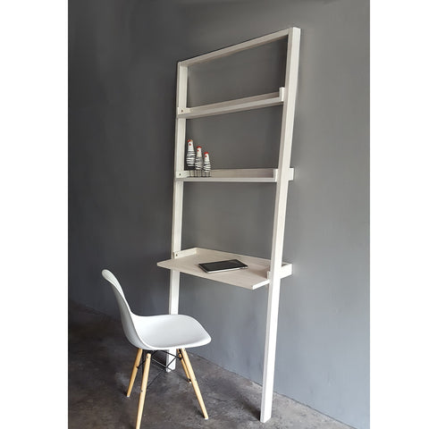 CECILIA leaning ladder desk with shelves, available in different colors