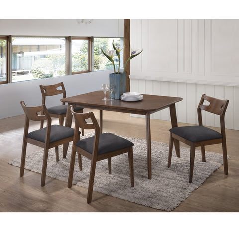 scandinavian walnut dining set
