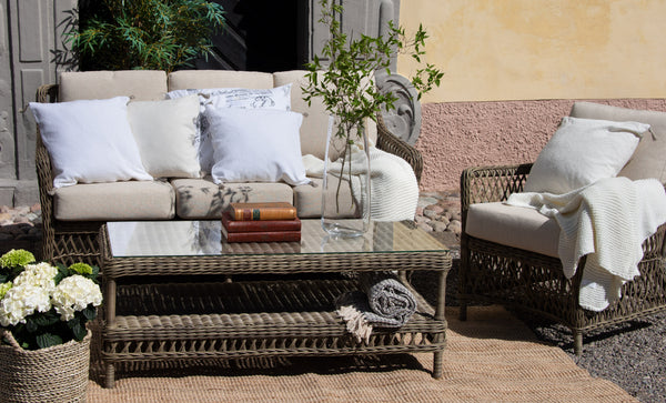 Rhode Island Synthetic rattan sofa set