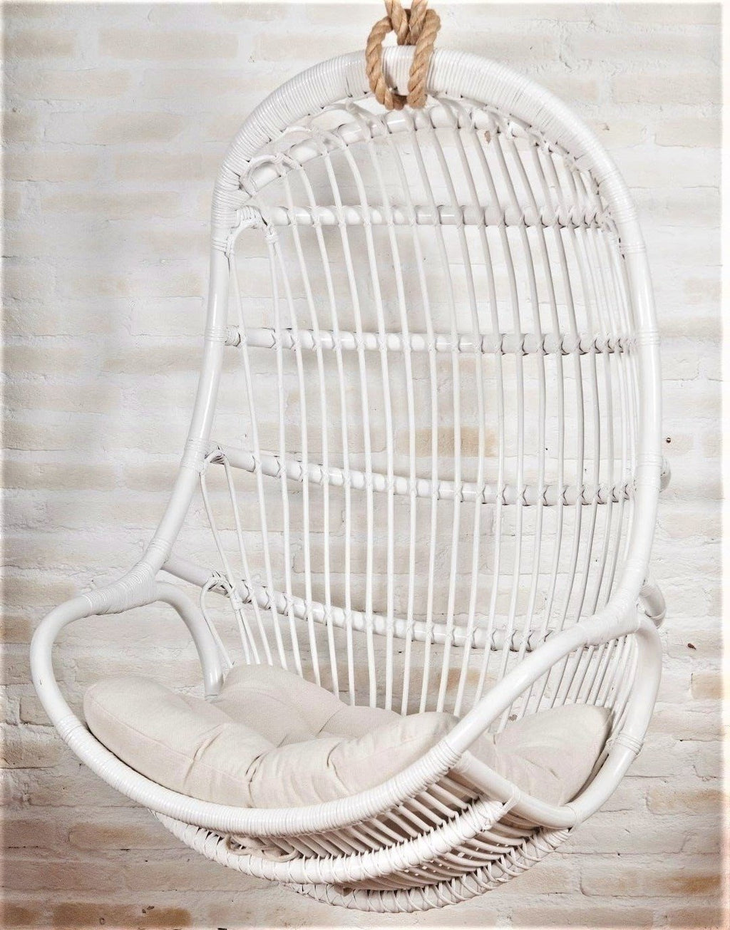 rattan hanging chair singapore white