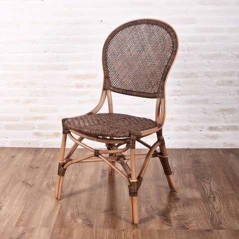Savanna rattan dining side chair.