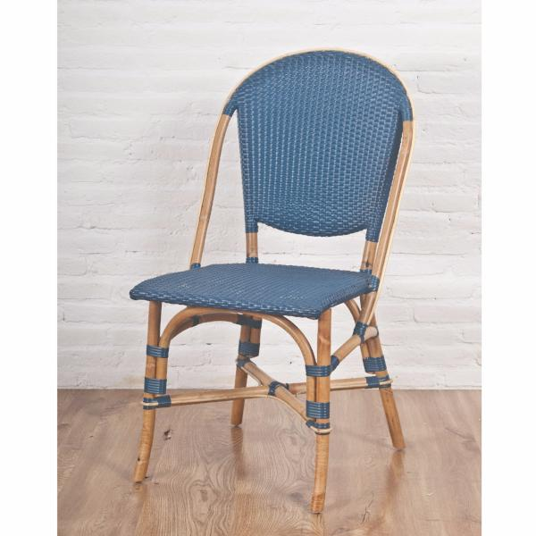 Sonja blue rattan dining chair