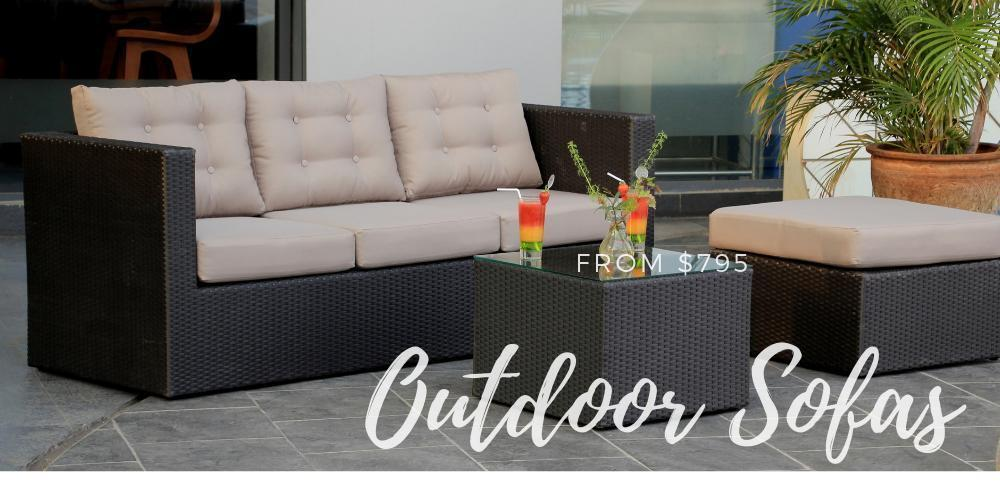 Milano Weatherproof Outdoor Corner Sofa with Dining Table Set