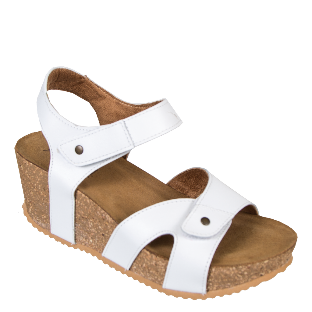 232391df303 Brook in White Wedge Sandals