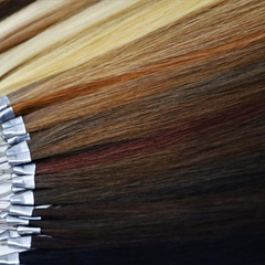 Hair extensions color ring which include 33 single colors