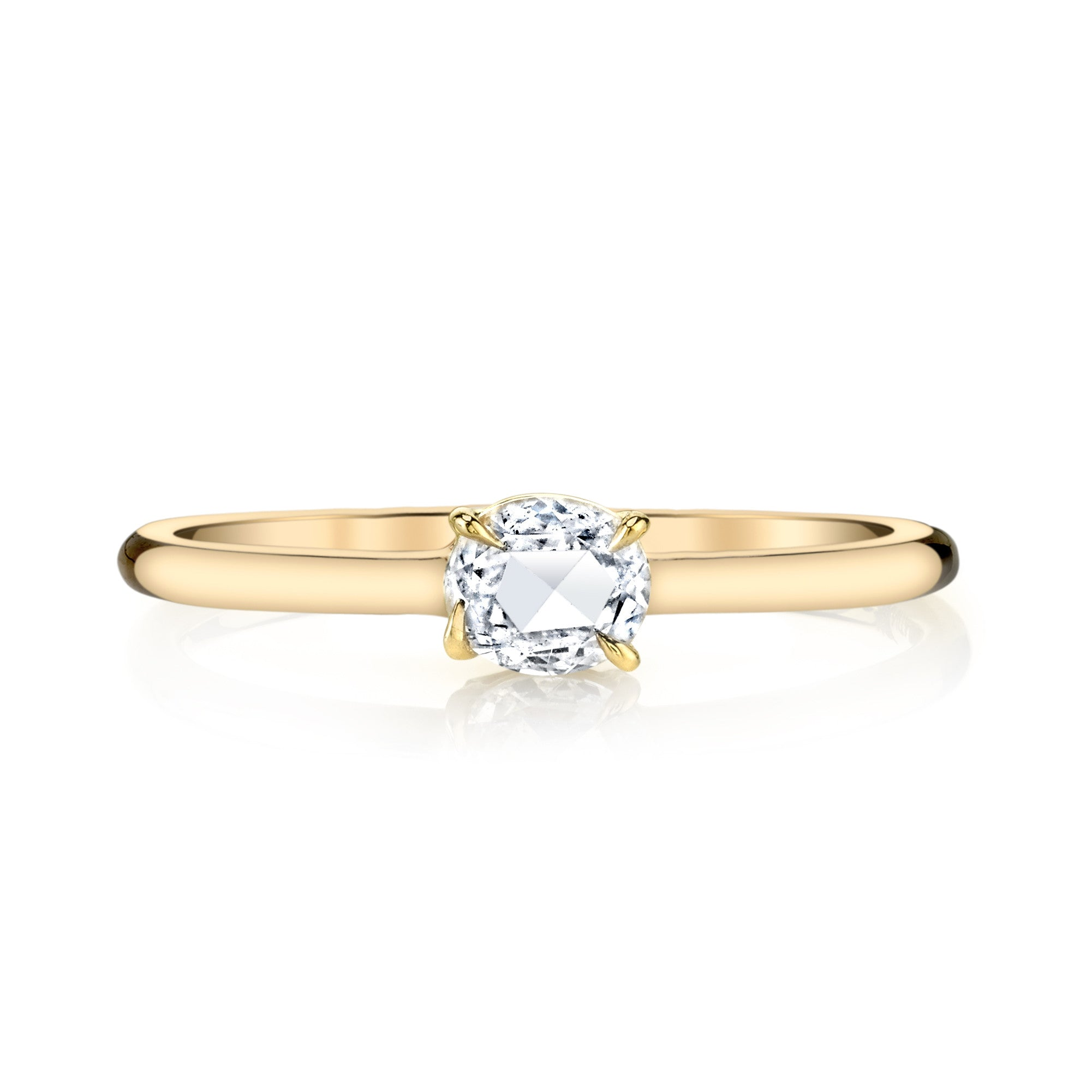 side engagement view cut lillian gold vintage in oval kristin ring halo white moiss rose moissanite vint or products center diamond yellow of