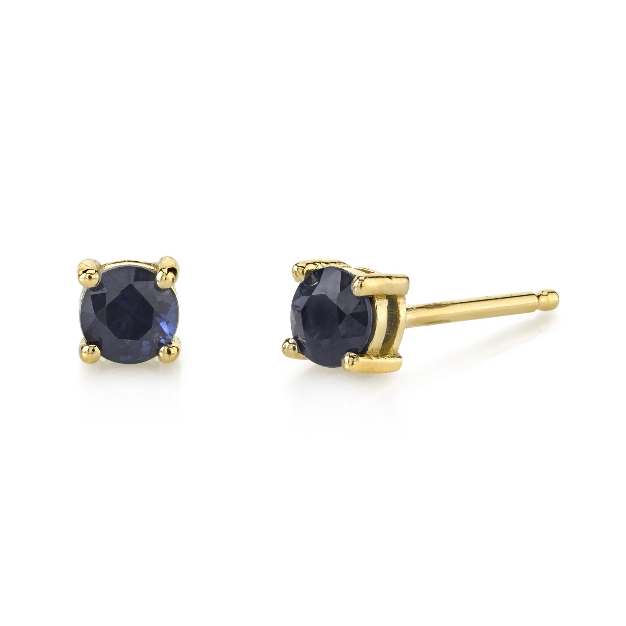 new moon earrings yellow stud products sapphire saphire earring
