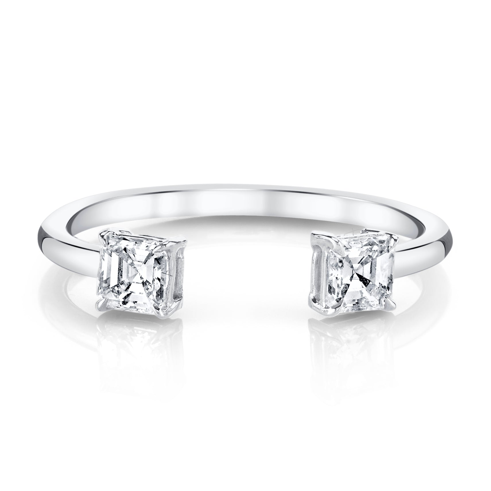 halo ring gia diamond co cut ctw asscher rings salvatore engagement