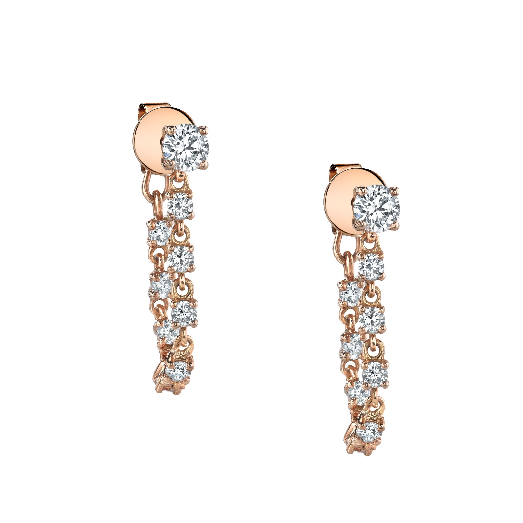 diamond studs pin earrings sterling silver real