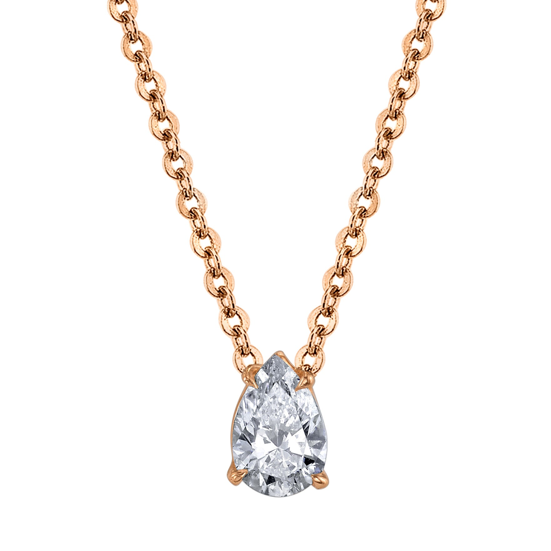 pear diamond collection shaped betteridge carat necklace solitaire estate p pendant