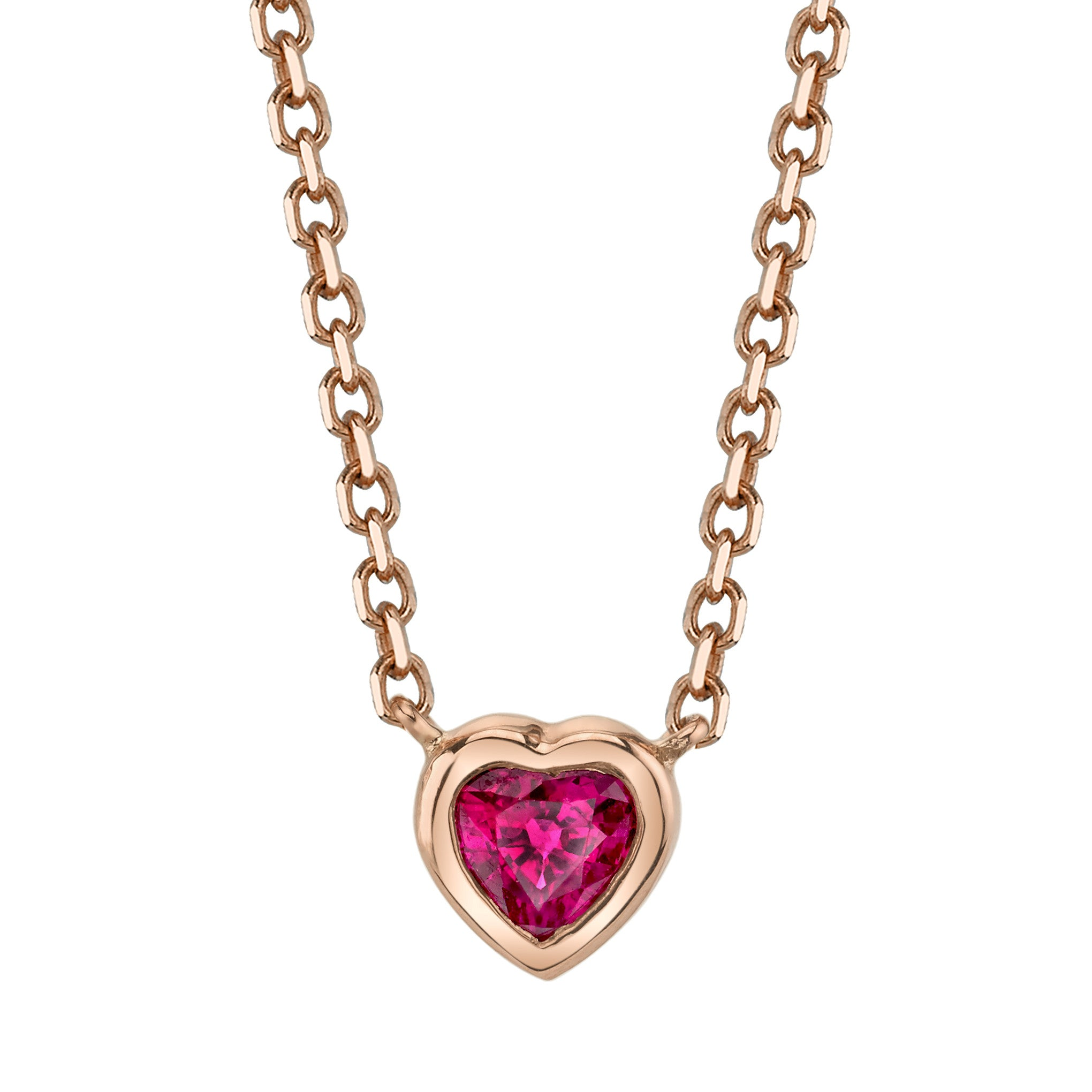 Ruby heart necklace anita ko ruby heart necklace aloadofball Image collections