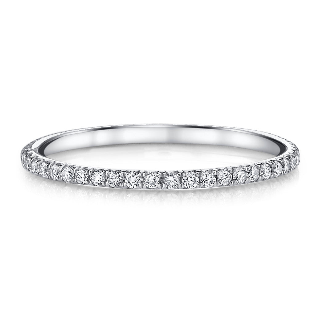 platinum bands band ring p tw eternity ct shop pave diamond pav in for