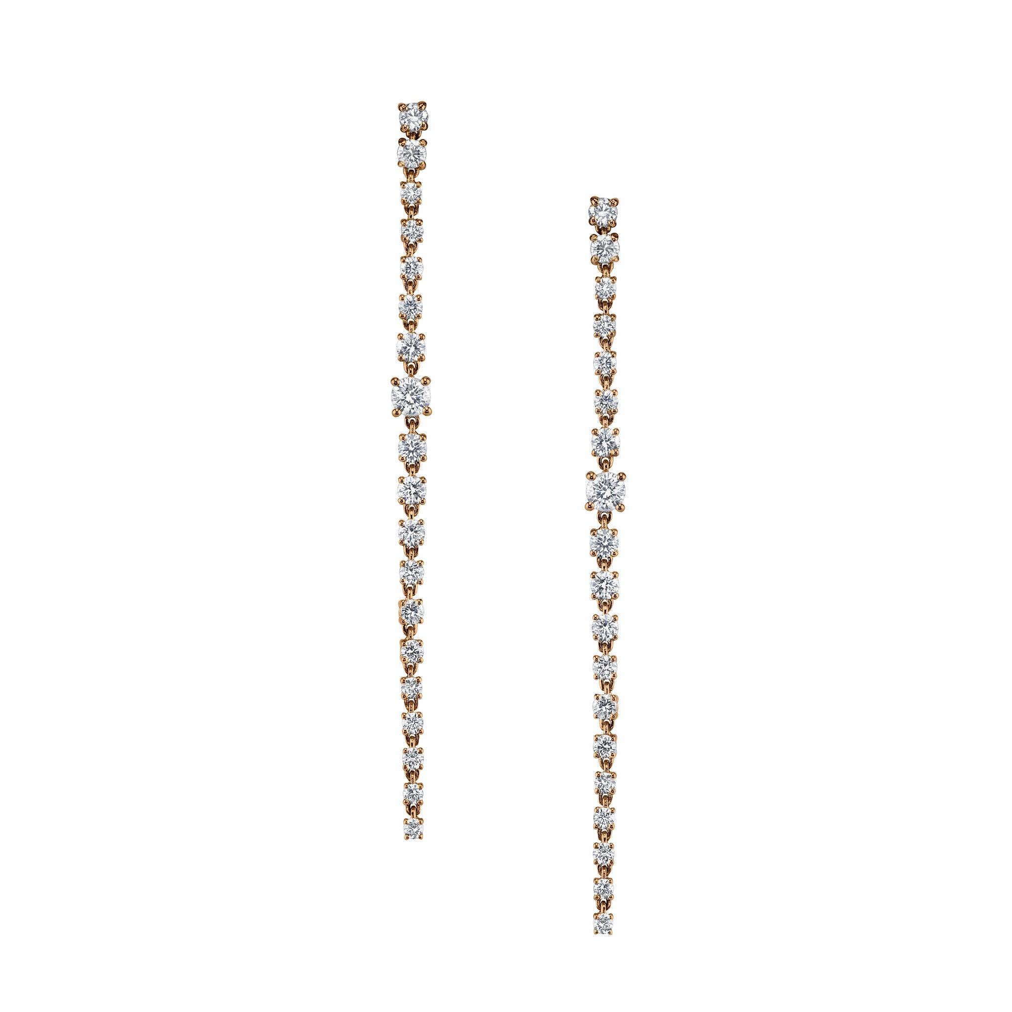 image s long gold drop white pave berrys diamond earrings berry jewellery